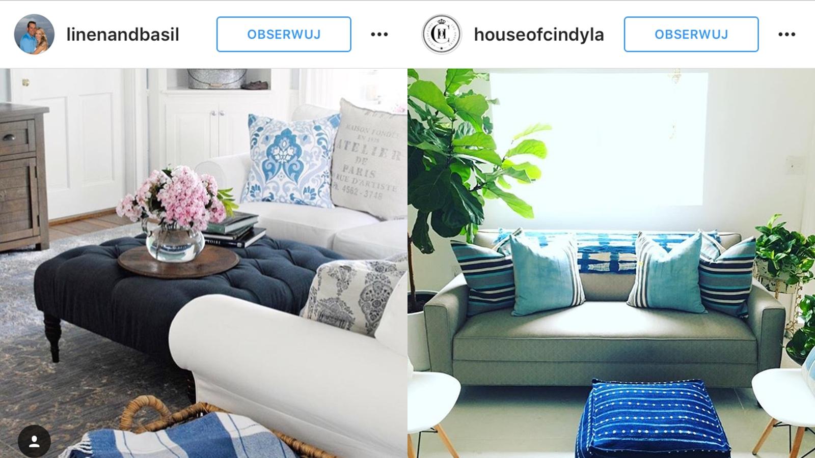 niebieskie poszewki na poduszki