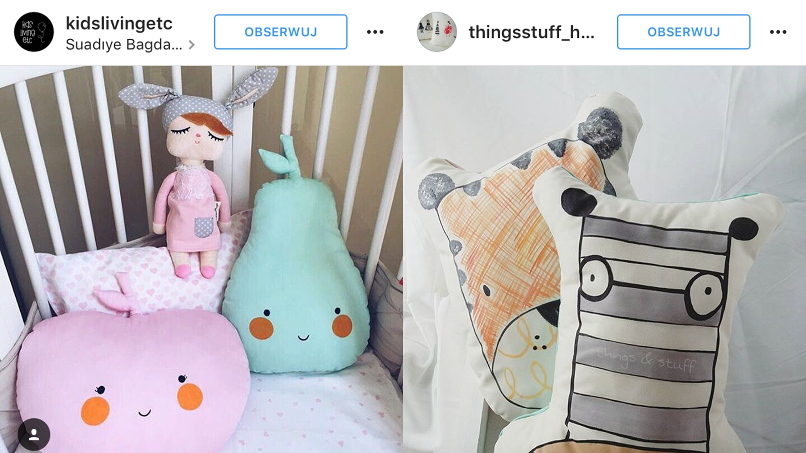 poduszki dla dzieci