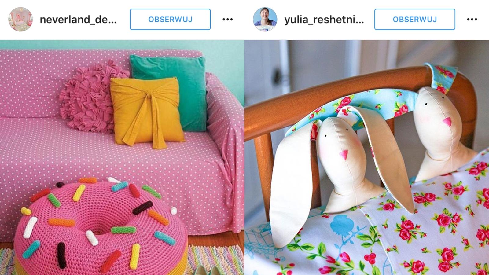 słodkie poduszki