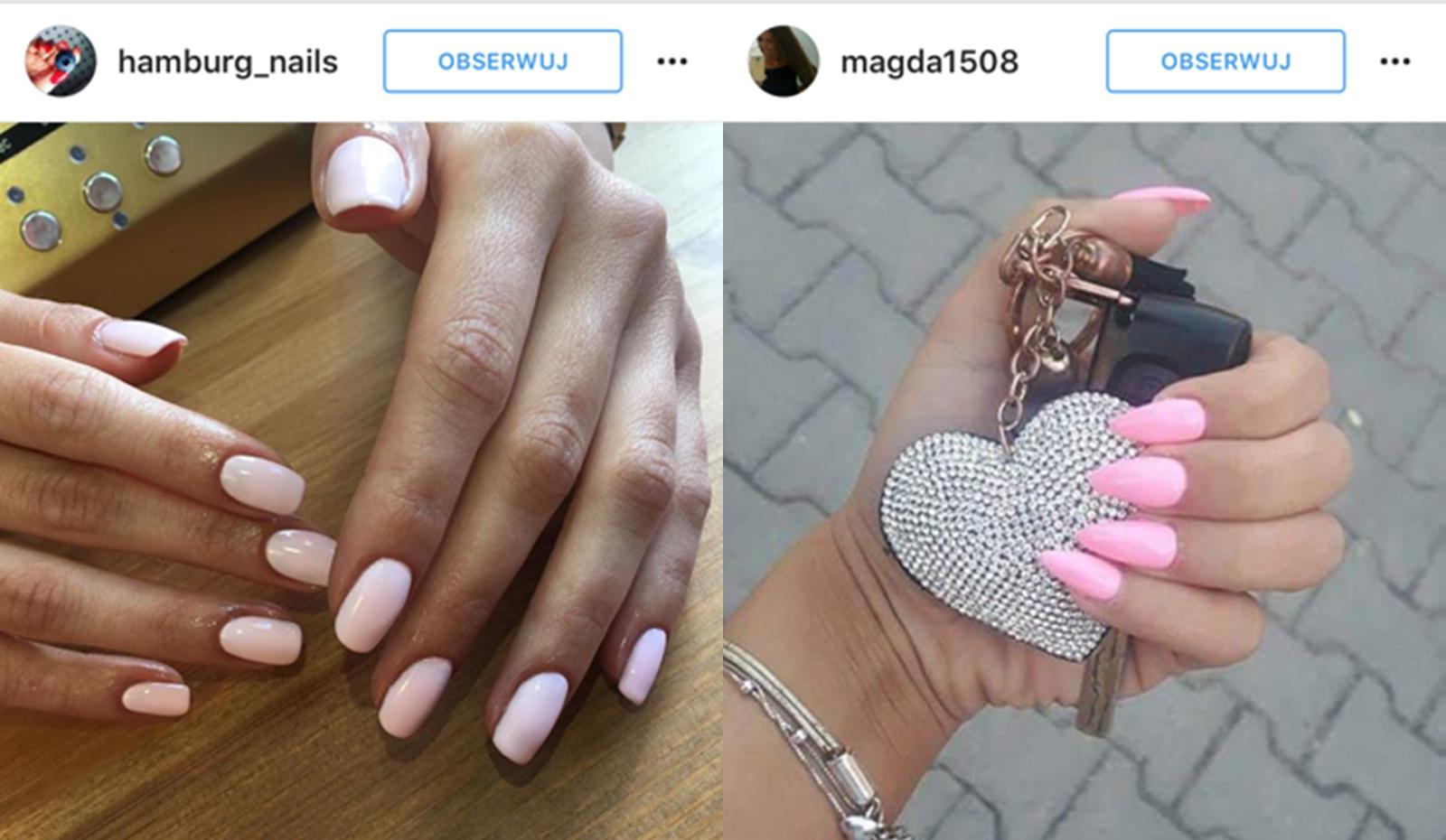 różowe paznokcie lato 2016