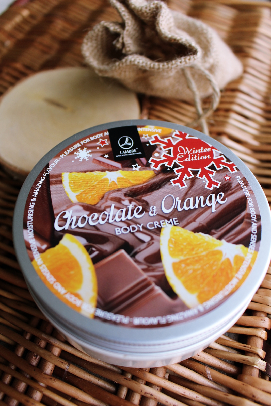 Lambre Body Creme Chocolate & Orange.