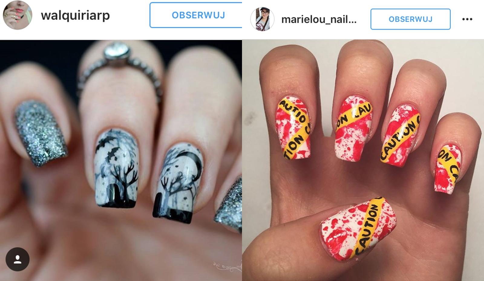 jakie paznokcie na halloween