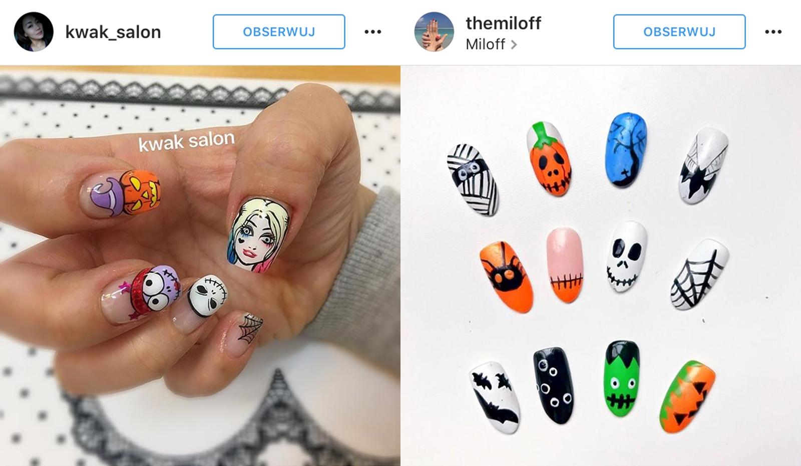 wzorki na paznokcie halloween
