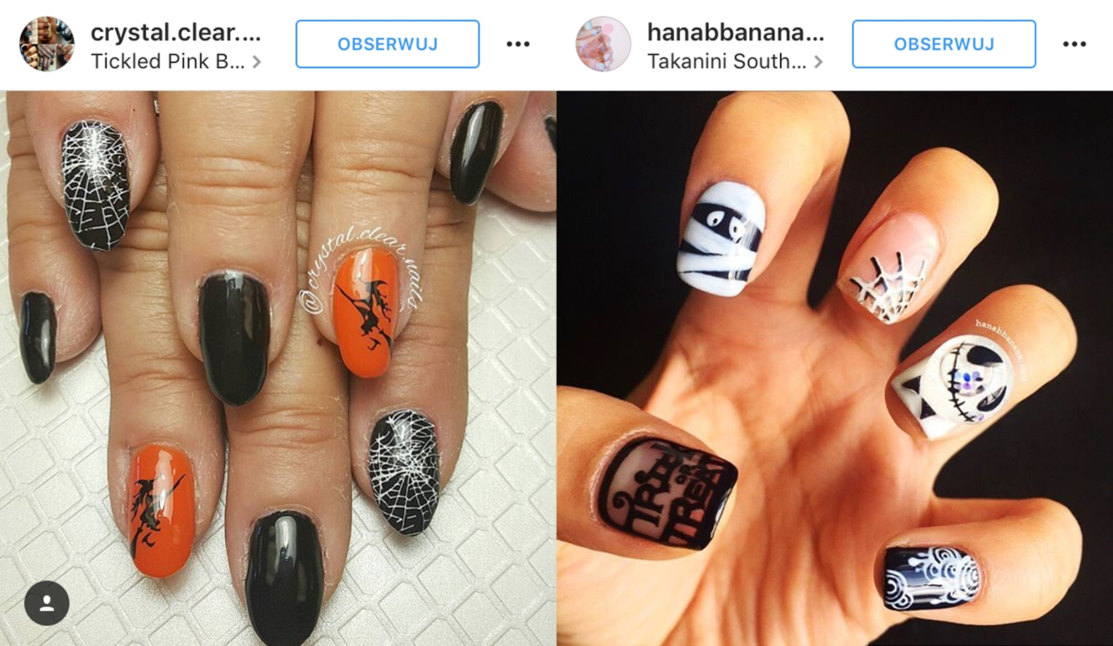 wzory na paznokcie halloween