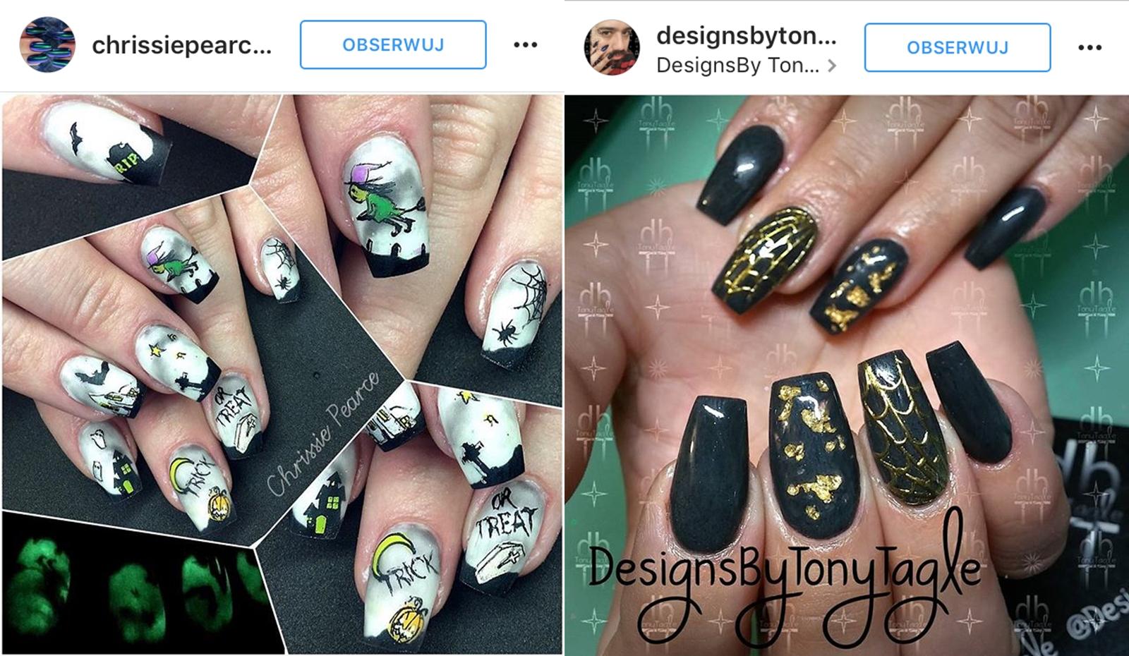 paznokcie na halloween 2016