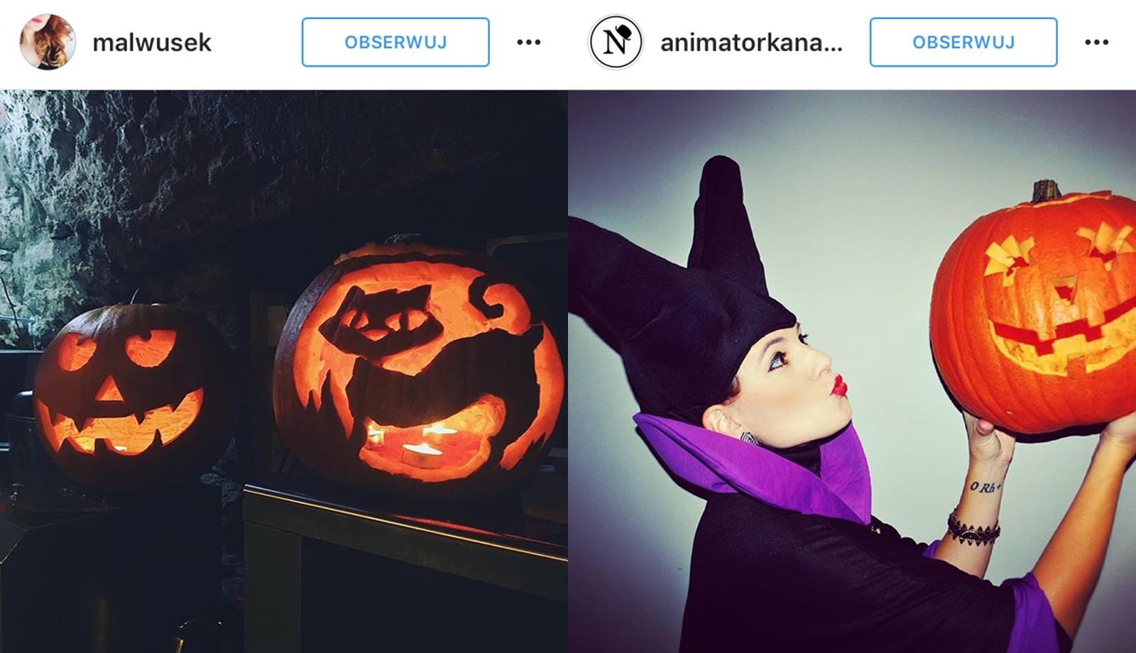lampion z dyni halloween