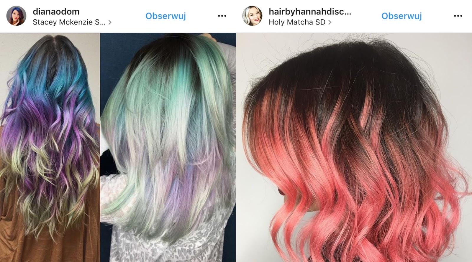 kolorowe farby do włosów