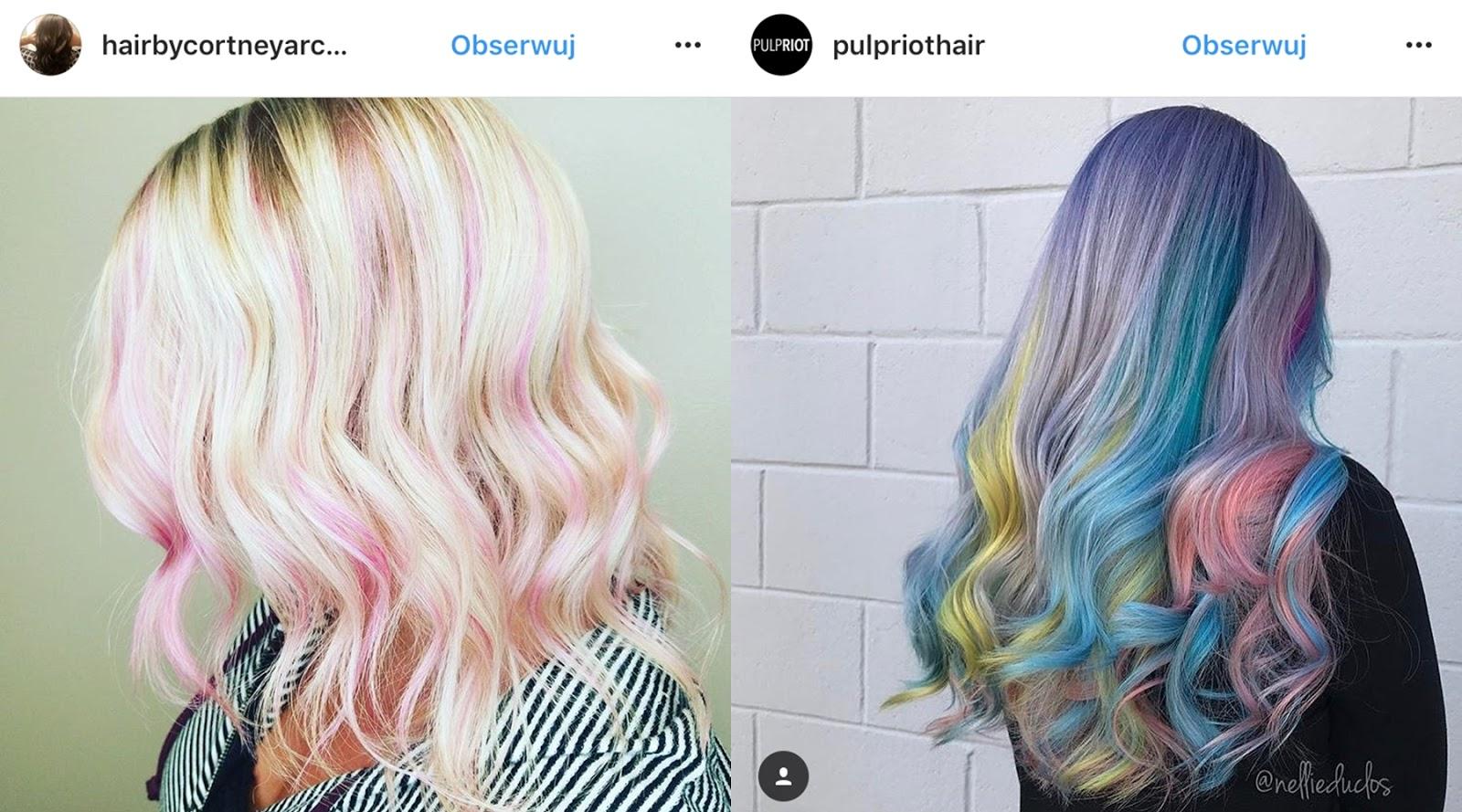 kolorowe włosy jak zrobić