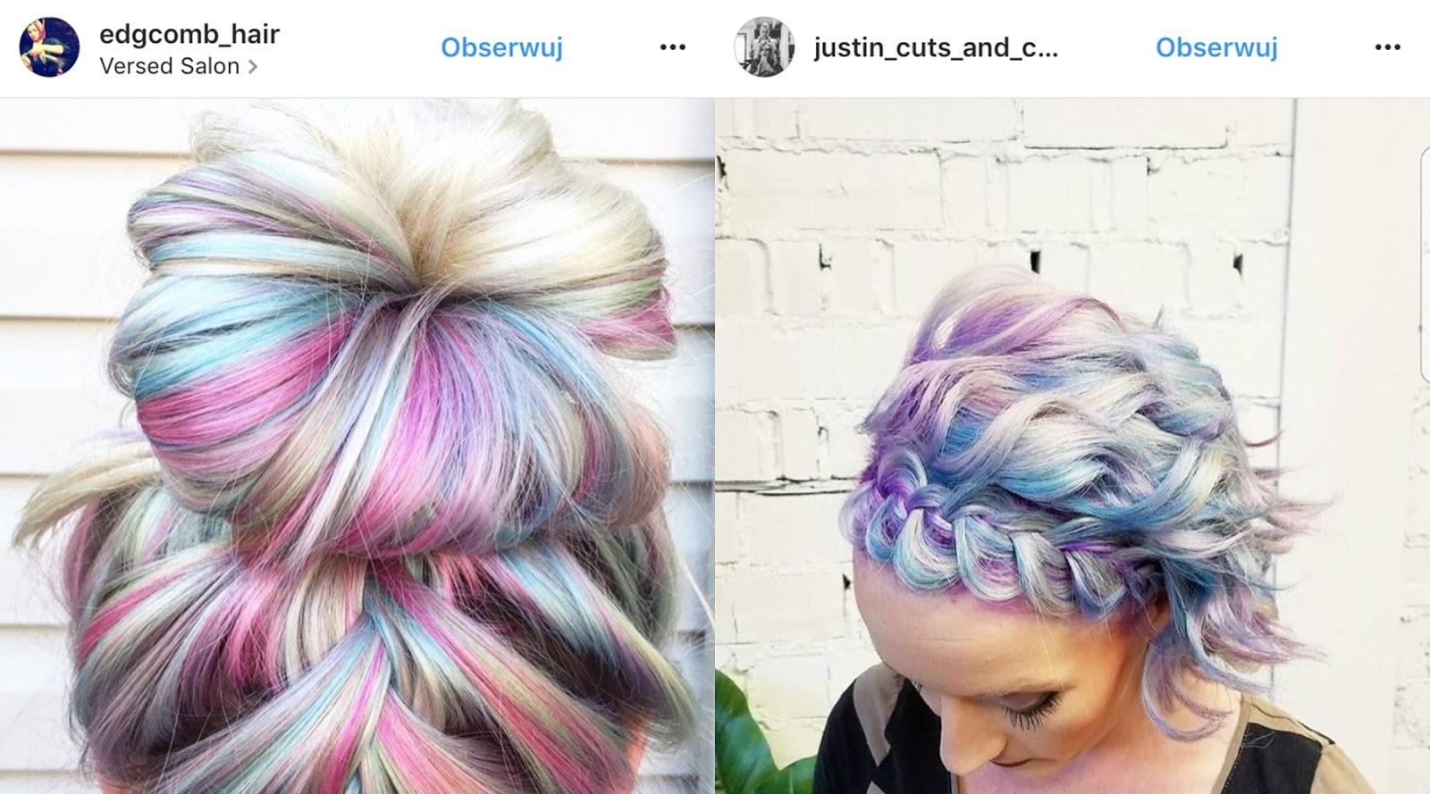 kolorowe włosy pastele