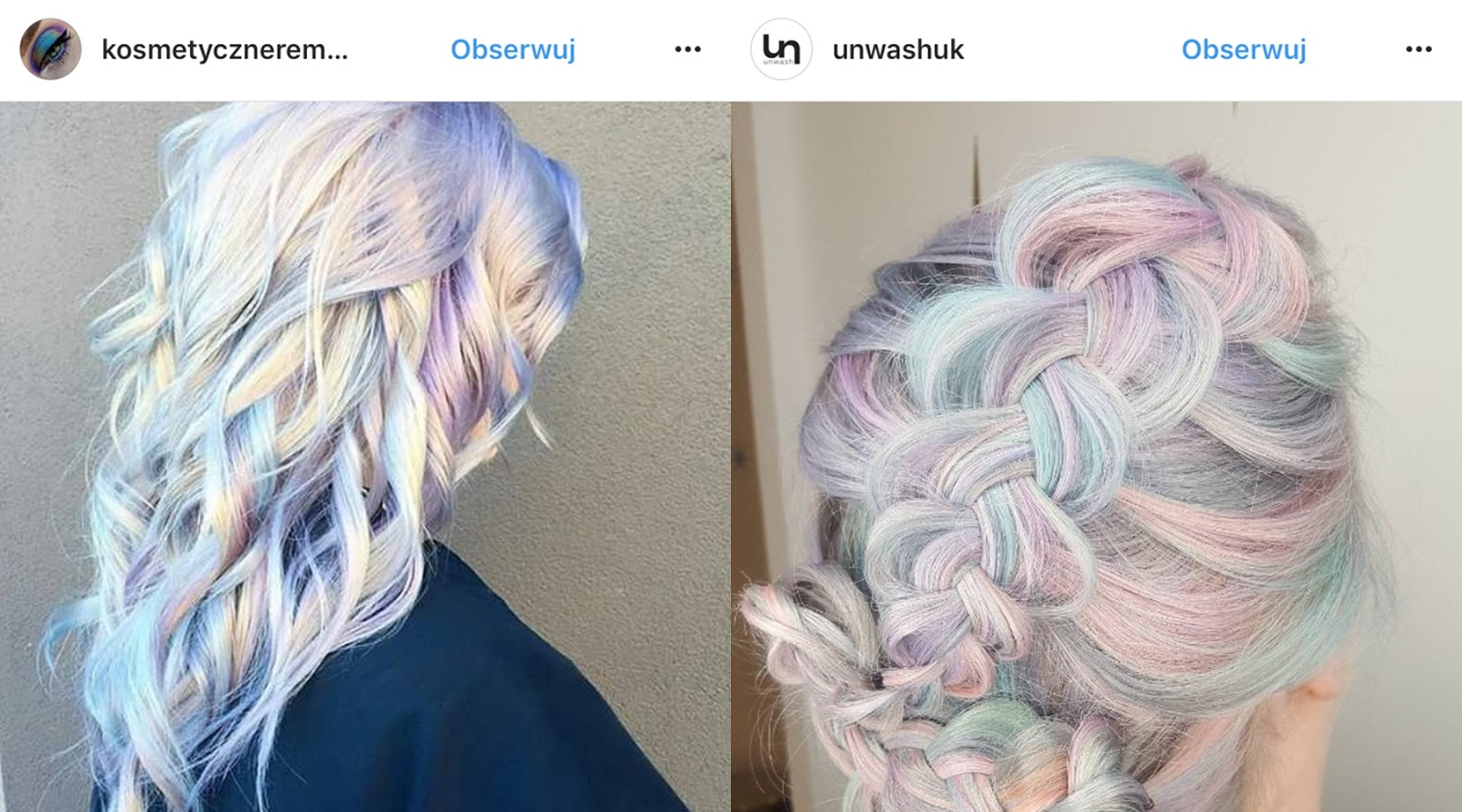 pastelowe farby do włosów