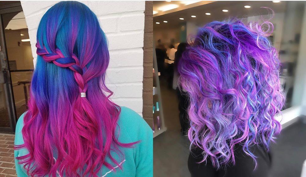 kolorowe ombre na włosach