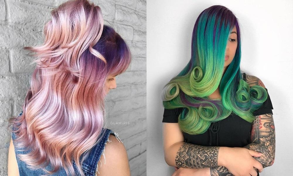 kolorowe włosy zdjęcia