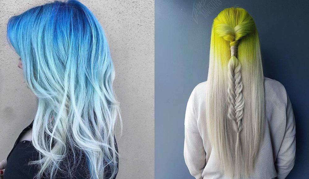 kolorowe włosy 2017