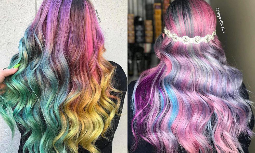 kolorowe włosy inspiracje