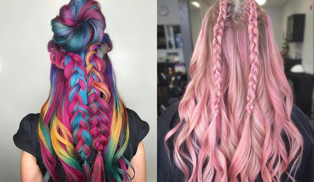 modne fryzury kolorowe włosy