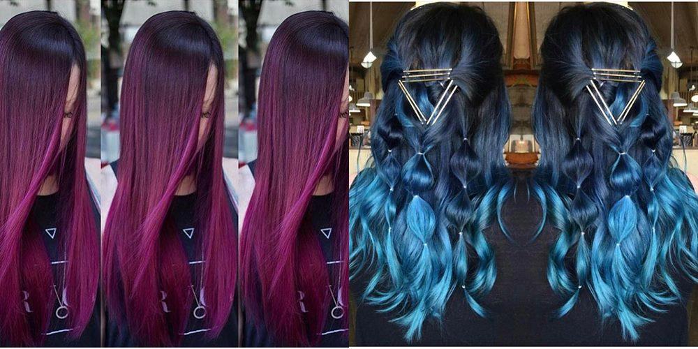 włosy farbowane