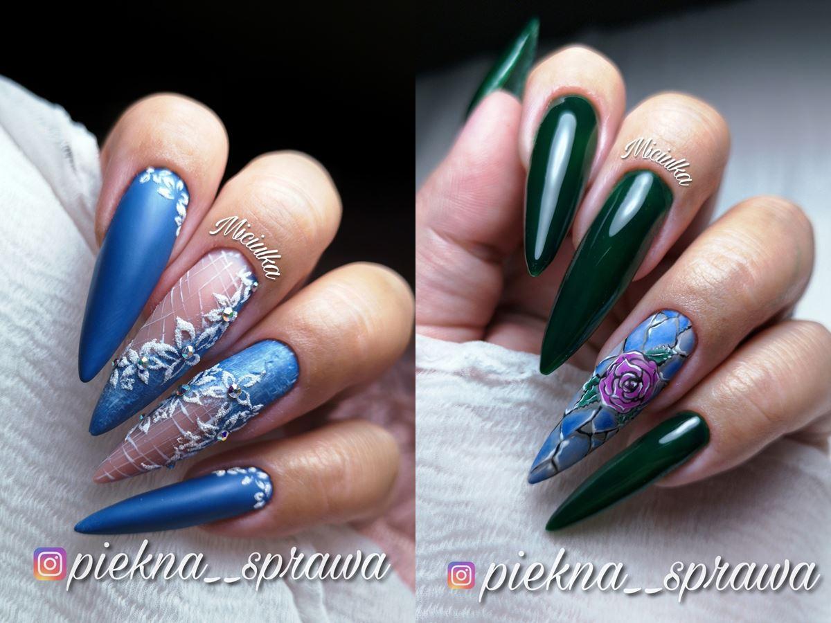 piękne paznokcie hybrydowe