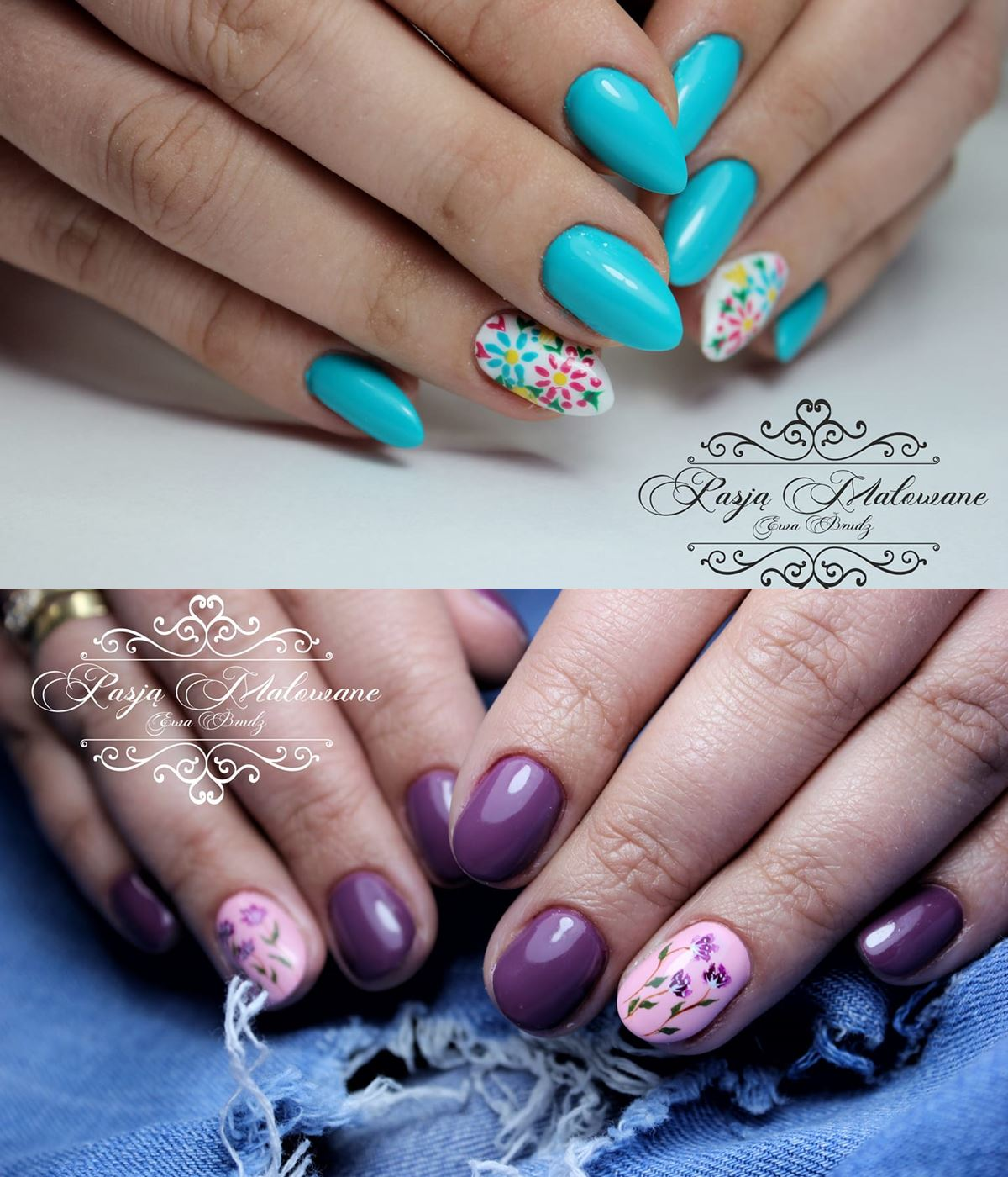 pomysł na paznokcie z kwiatkami
