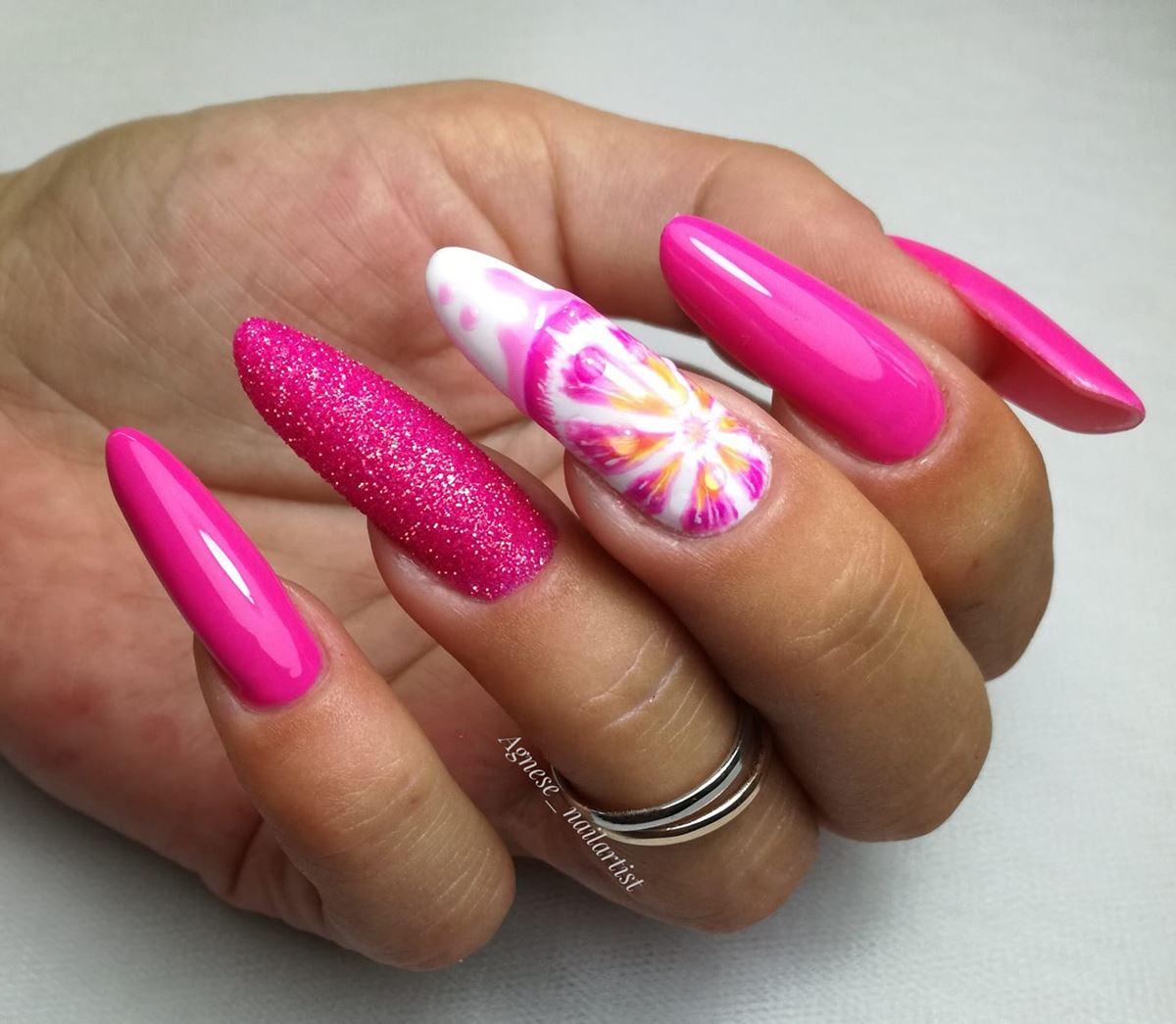 różowe neonowe hybrydy