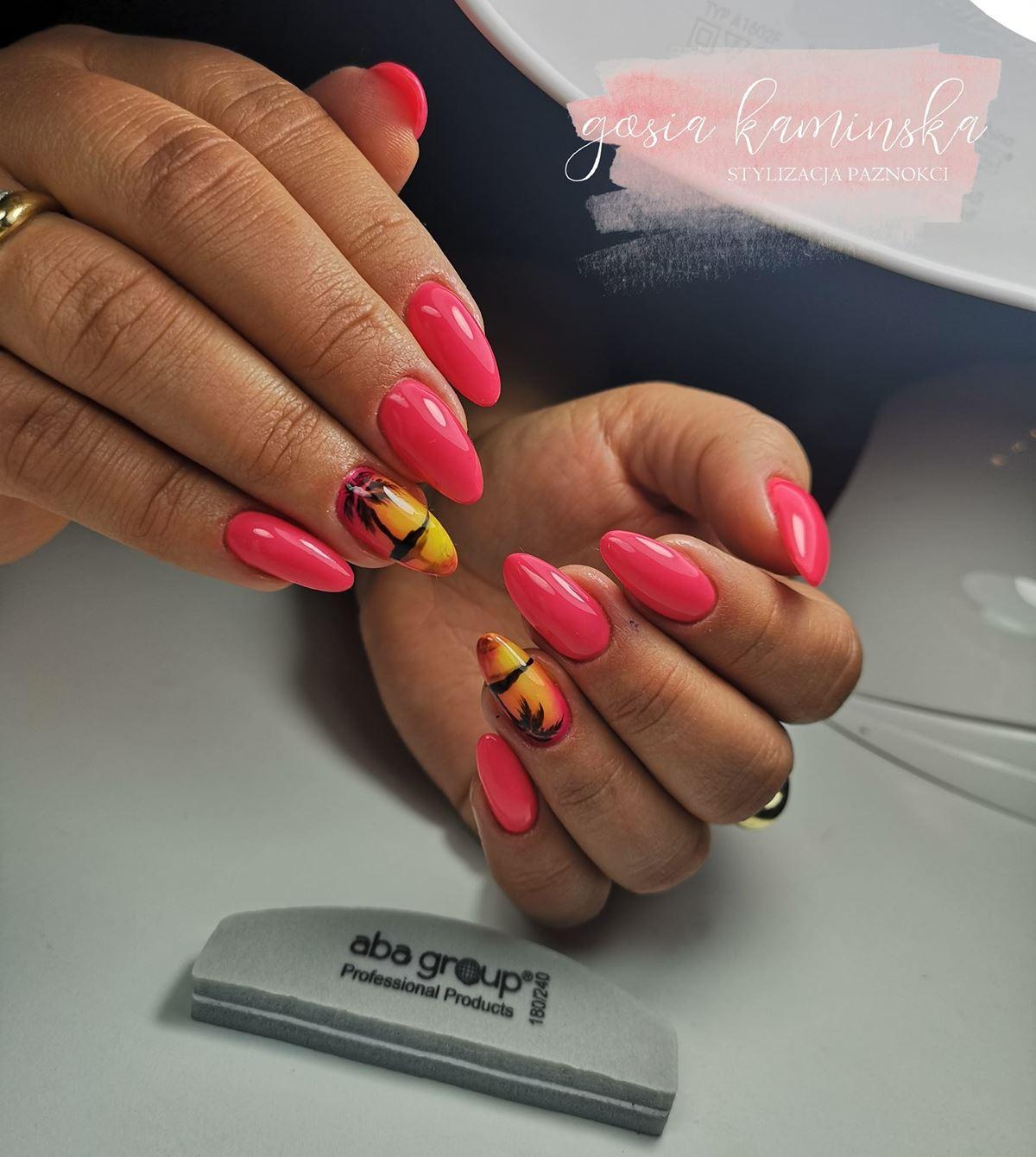 wakacyjne paznokcie zdjęcia
