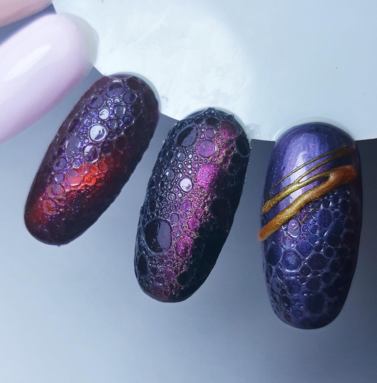 jak zrobić bubble nails