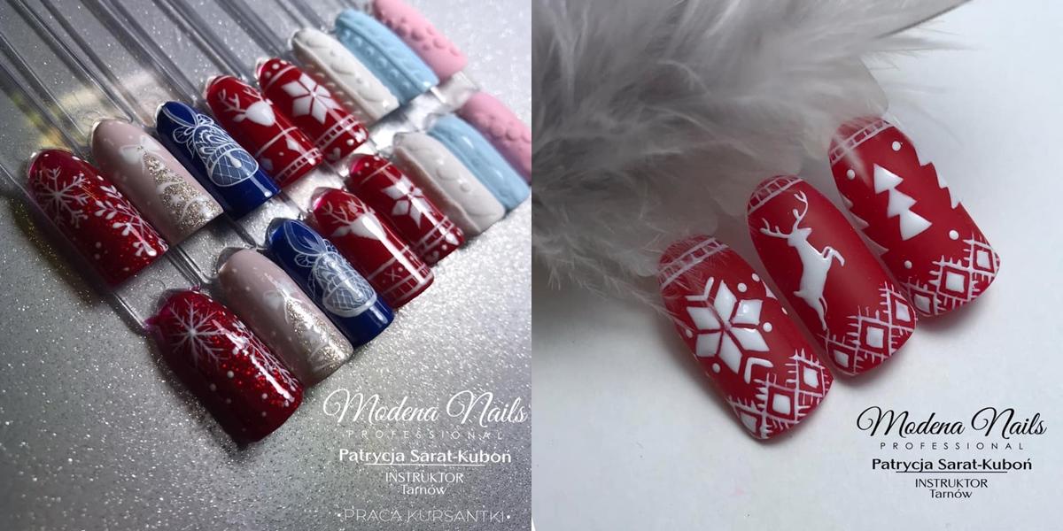 świąteczne zdobienia na paznokciach