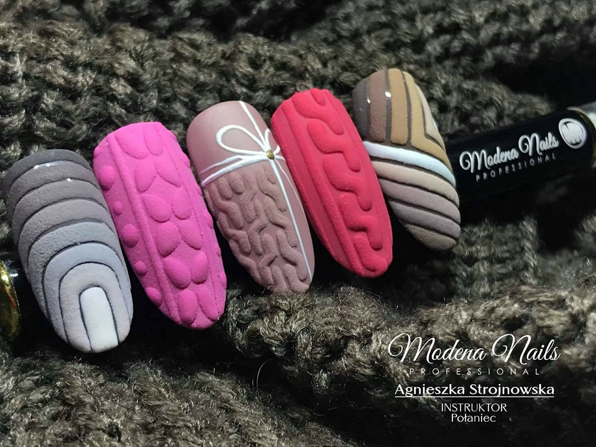 sweterek na paznokciach inspiracje