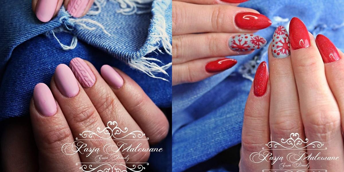 zimowe paznokcie zdjęcia