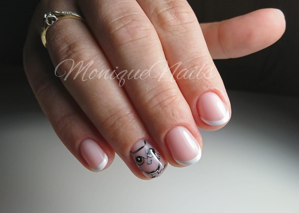 paznokcie z sową